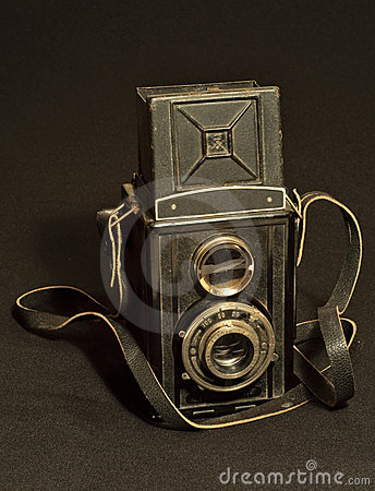 Retro TLR (Twin-lens reflex) photo camera