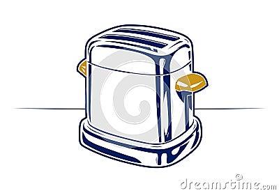 Retro toaster icon