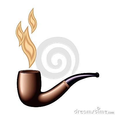 Retro tobacco pipe vector