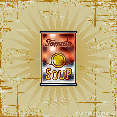 Free Retro Tomato Soup Can Royalty Free Stock Photography - 16437257