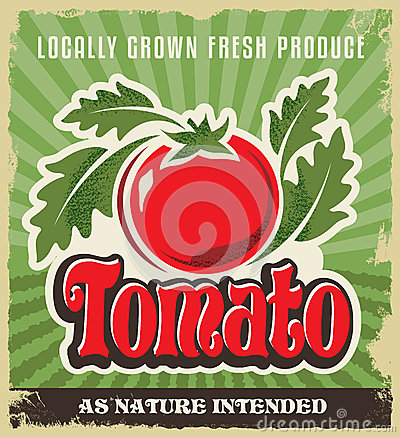 Free Retro Tomato Vintage Advertising Poster - Metal Sign And Label Design Royalty Free Stock Photos - 39357518