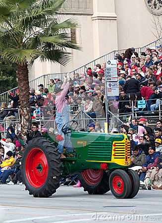 Retro Tractor in Rose Bowl Parade Editorial Image