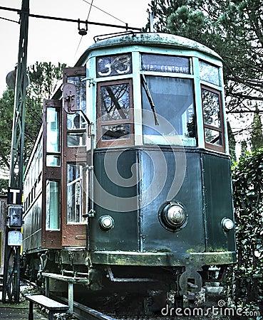 Retro tram di vecchio stile fotografia stock immagine for Piani domestici di vecchio stile