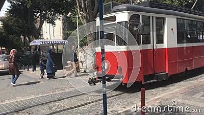 Retro tramspoor stock videobeelden