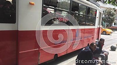 Retro tramspoor stock footage