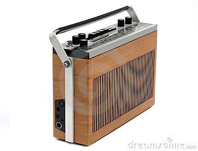 Retro Transistor radio of 60s and 70s design