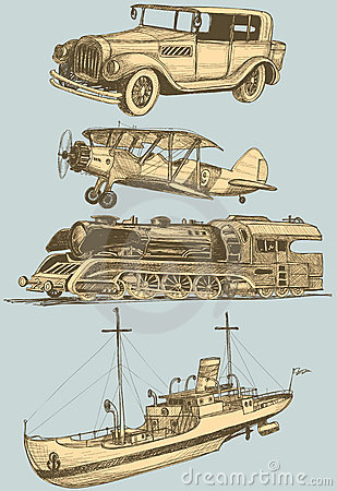 Retro transportation set