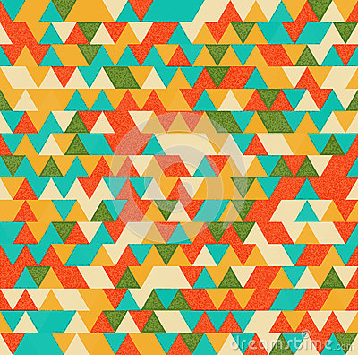 Retro triangles bright background