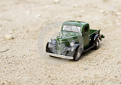 Retro truck toy car