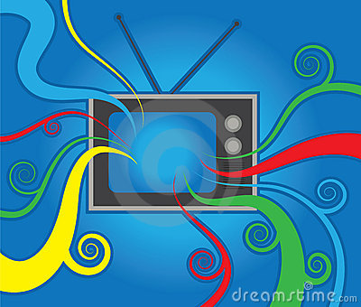 Retro TV Colors Stock Photo - Image: 23117270