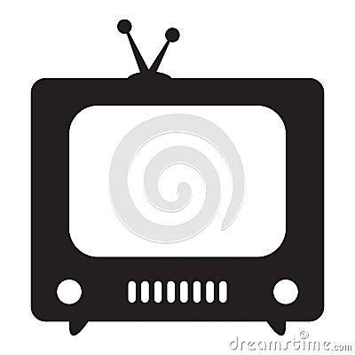 Free Retro TV Icon Royalty Free Stock Photo - 121710505