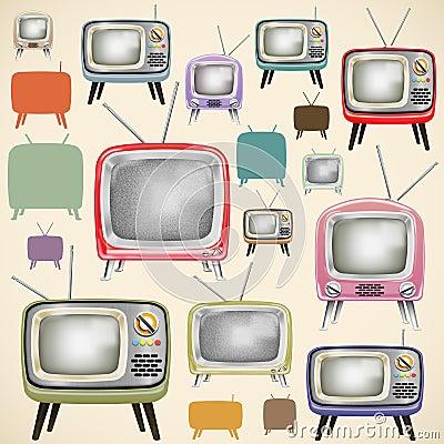 Retro TV pattern