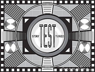 Retro TV Test Pattern