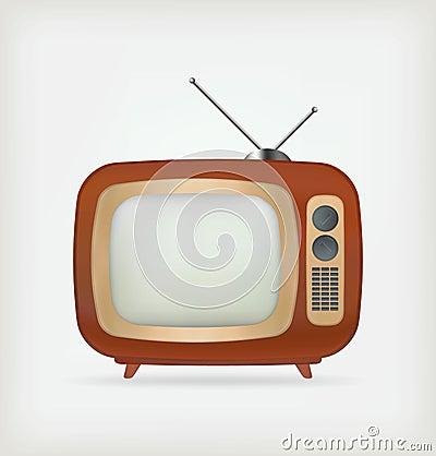 Free Retro TV Vector Royalty Free Stock Photo - 27345615