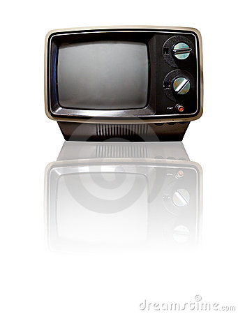 Free Retro TV With Reflection Stock Image - 12587791