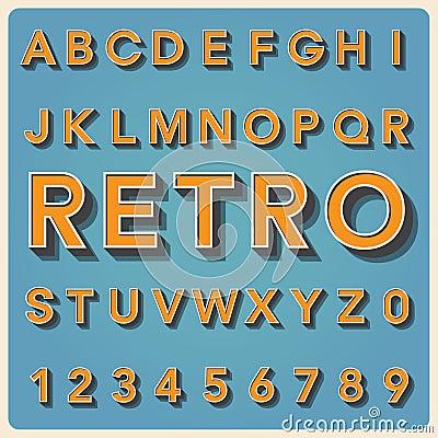 Free Retro Type Font, Vintage Typography . Royalty Free Stock Photos - 31210918