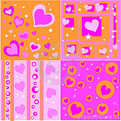 Free Retro Valentine Designs Royalty Free Stock Photos - 6398358