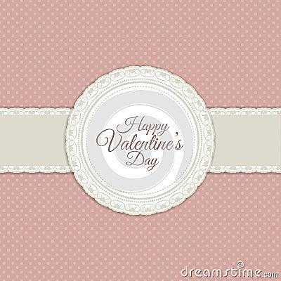 Retro valentines day background