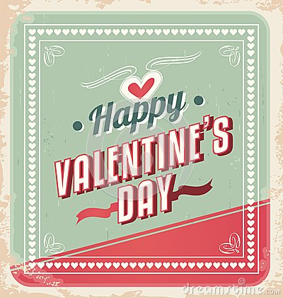Retro Valentines Day Card vector