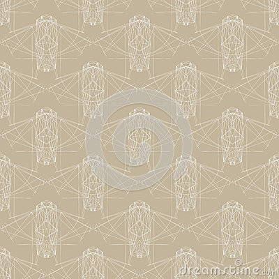 Retro vector pattern from 70s or 80s