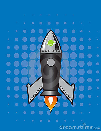 Retro Vector rocket.