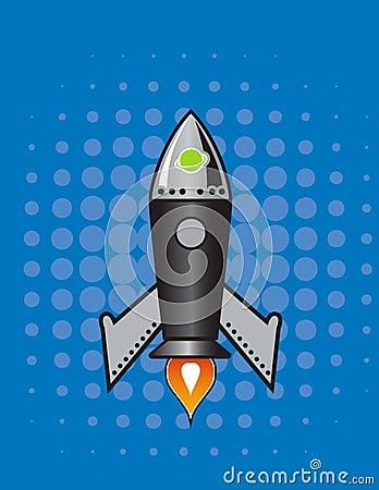 Retro Vector rocket.
