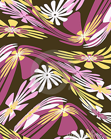Retro vervormd bloemen grafisch ontwerp