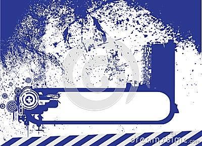 Retro vettore del blocco per grafici