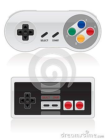 Retro Video Game Controller EPS