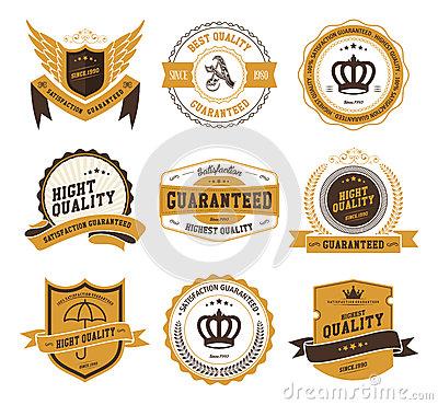 Free Retro Vintage Badges And Labels Stock Photos - 38677773