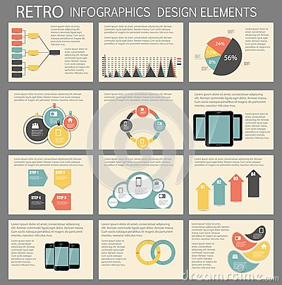 Retro Vintage Infographic Template Business Vector Royalty Free ...