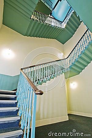 Retro vintage stair case