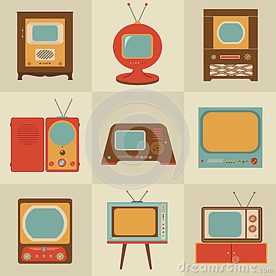 Free Retro Vintage Tv Set Royalty Free Stock Images - 28015209