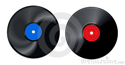 Retro vinyl record -