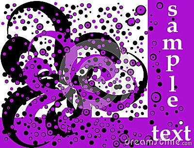 Retro violet modern flyer