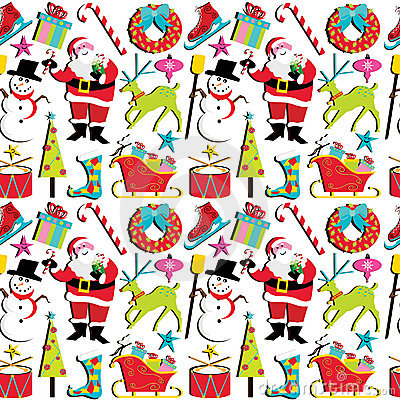 Retro wallpaper för jul