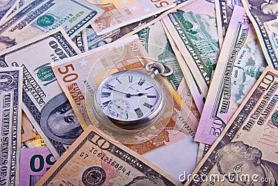 Retro watches on cash