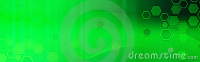 Retro Web header / Banner green