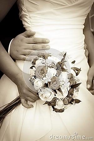 Retro wedding bouquet