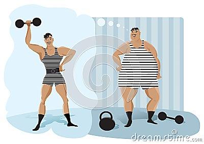 Retro weightlifter