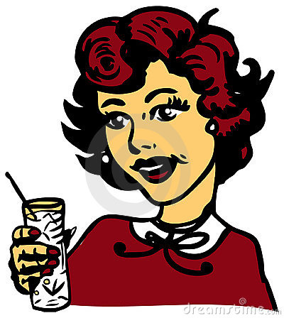 Retro Woman With Cocktail