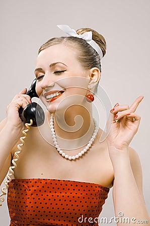 Retro Woman on The Phone