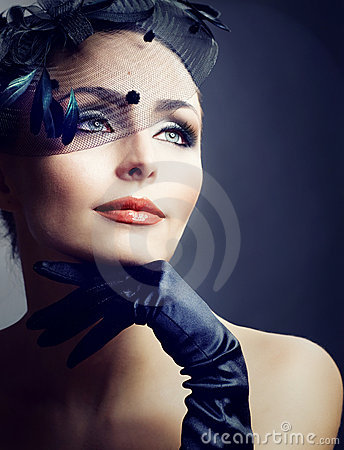 Free Retro Woman Portrait.Vintage Style Royalty Free Stock Photography - 16694347