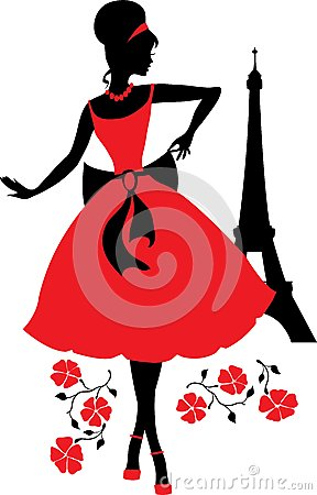 Free Retro Woman Silhouette Royalty Free Stock Images - 44968799