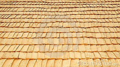 Retro wood-chip roof