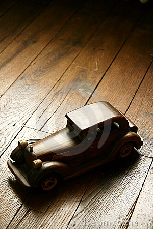 Retro wooden car model