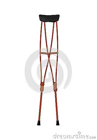 Retro wooden crutches