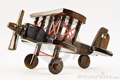 Retro wooden toy airplane