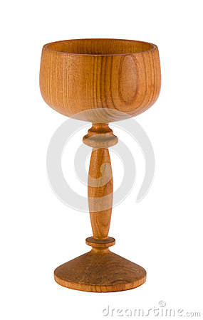 Free Retro Wooden Wineglass Tumbler Isolated On White Stock Image - 31172321