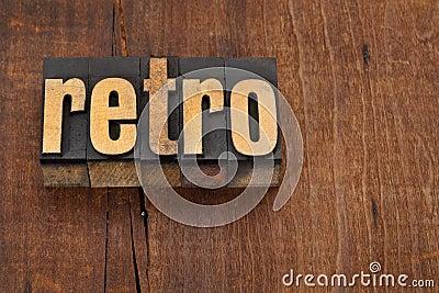 Retro word in letterpress type